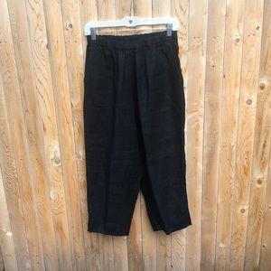 Flax by Jeanne Engelhart black cropped pants S